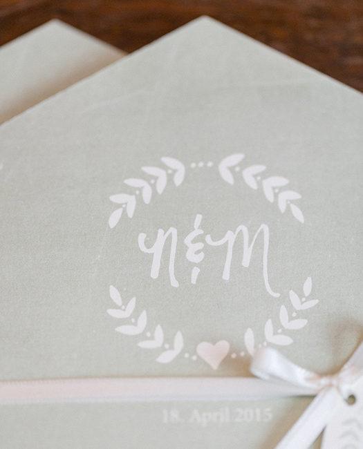 Einladung Hochzeitspapeterie 6-eckig geometric grün