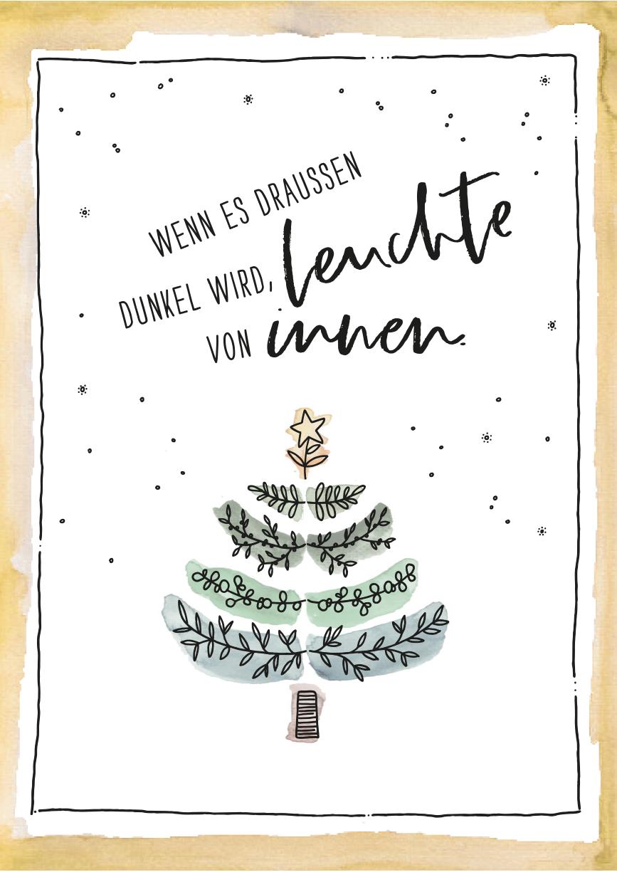 herzanherz jubelmomenst jubeltage Sprüche Postkarten illustration aquarelle print Weihnachten