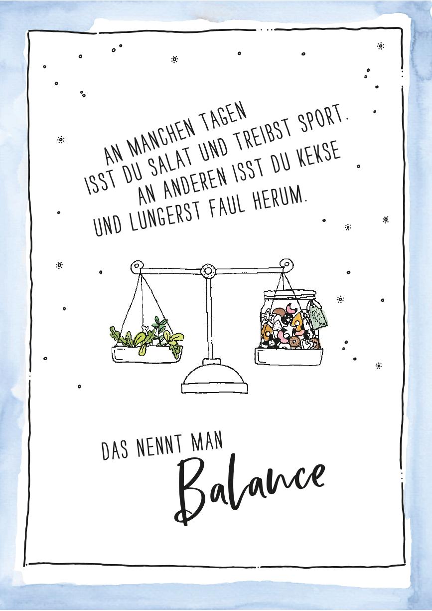 herzanherz jubelmoments jubeltage Sprüche Postkarten illustration aquarelle print handgezeichnet herz balance