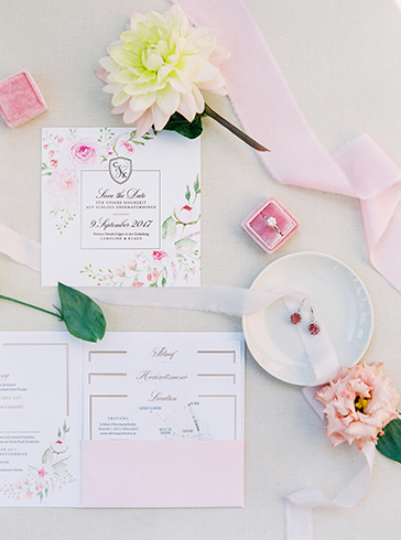 Wedding Pocketfolder Hochzeitspapeterie Einladung Hochzeit papeterie Drucksorten aquarelle Goldprägung