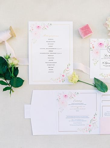 Wedding Pocketfolder Hochzeitspapeterie Einladung Hochzeit papeterie Drucksorten aquarelle Goldprägung Menükarte