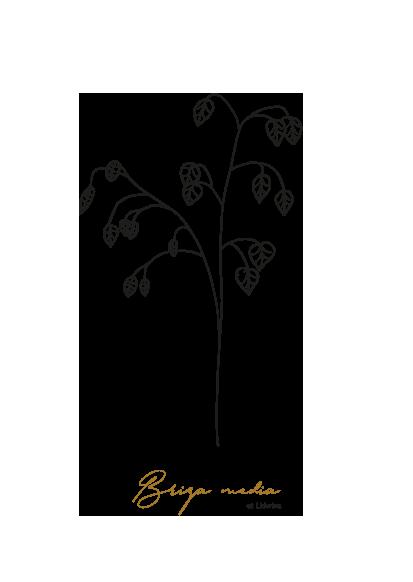 gezeichnet handgezeichnet Illustration Blume Logo Herz Lineart Zittergras
